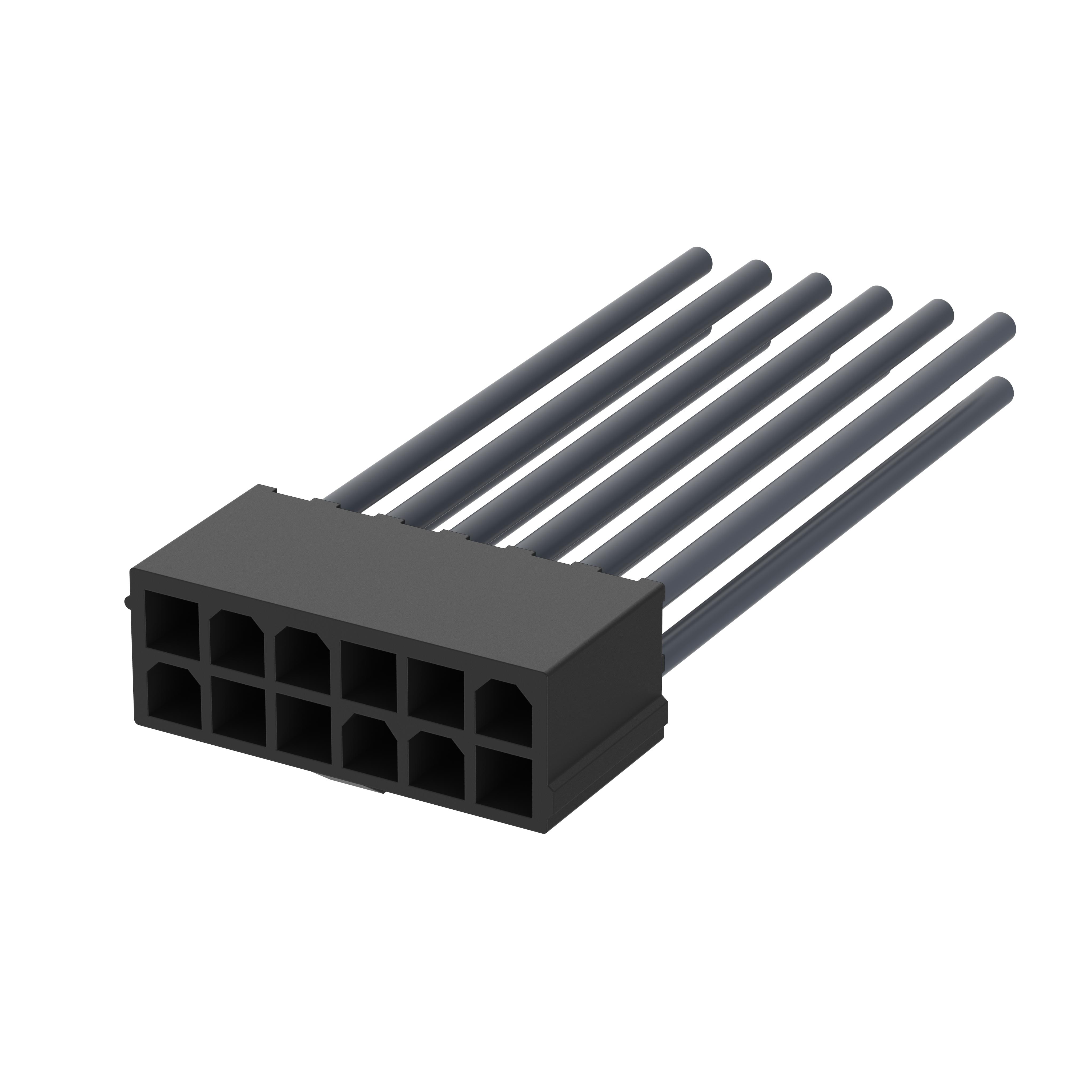 Litzensatz - L2DD005A - 4 polig, 0,75mm² 5,0m, PVC, mit Molex Stecker