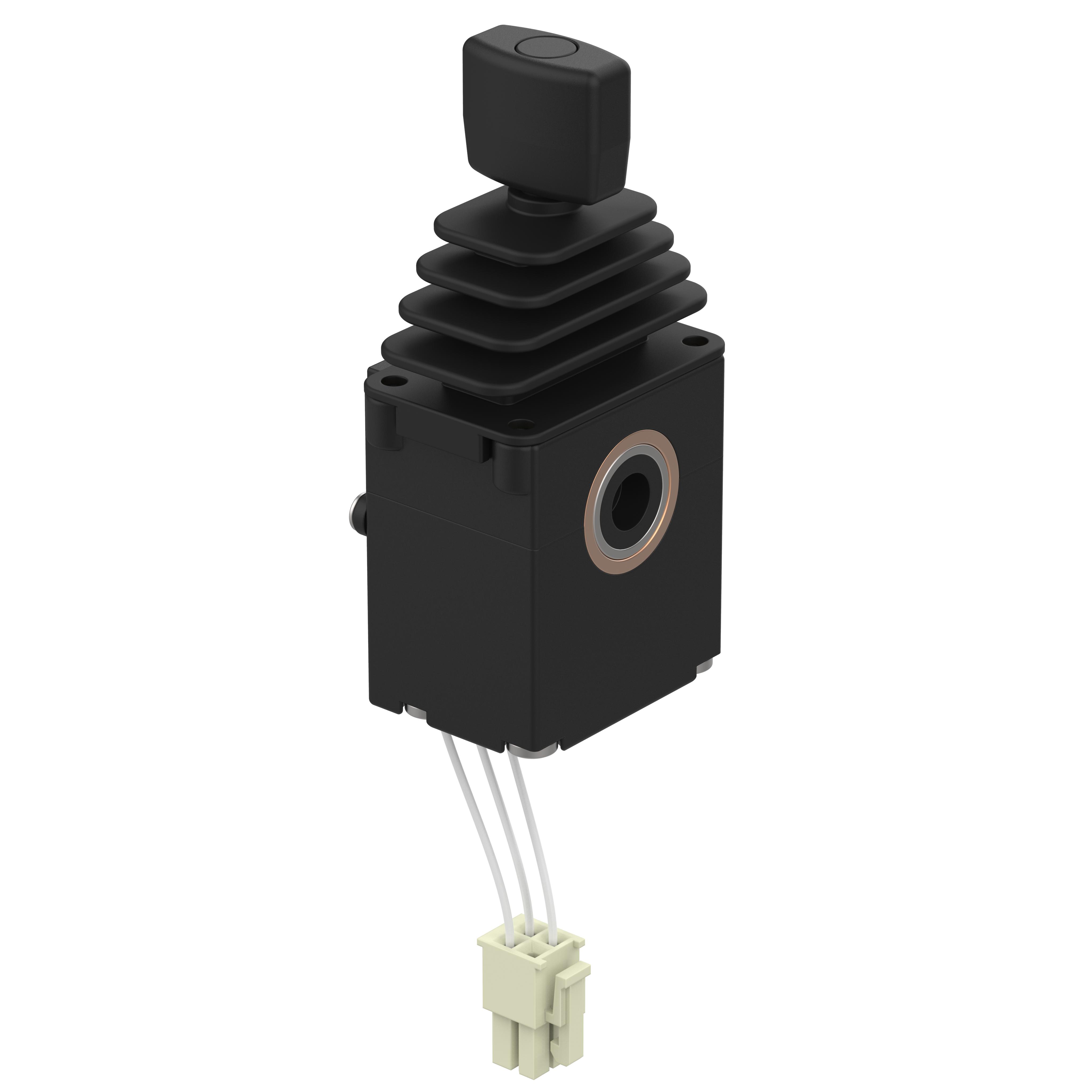 Fingertip Joystick J3 - J3A1AA0A - Betriebsspannung 10-30VDC, Ausgangssignal 4-20mA