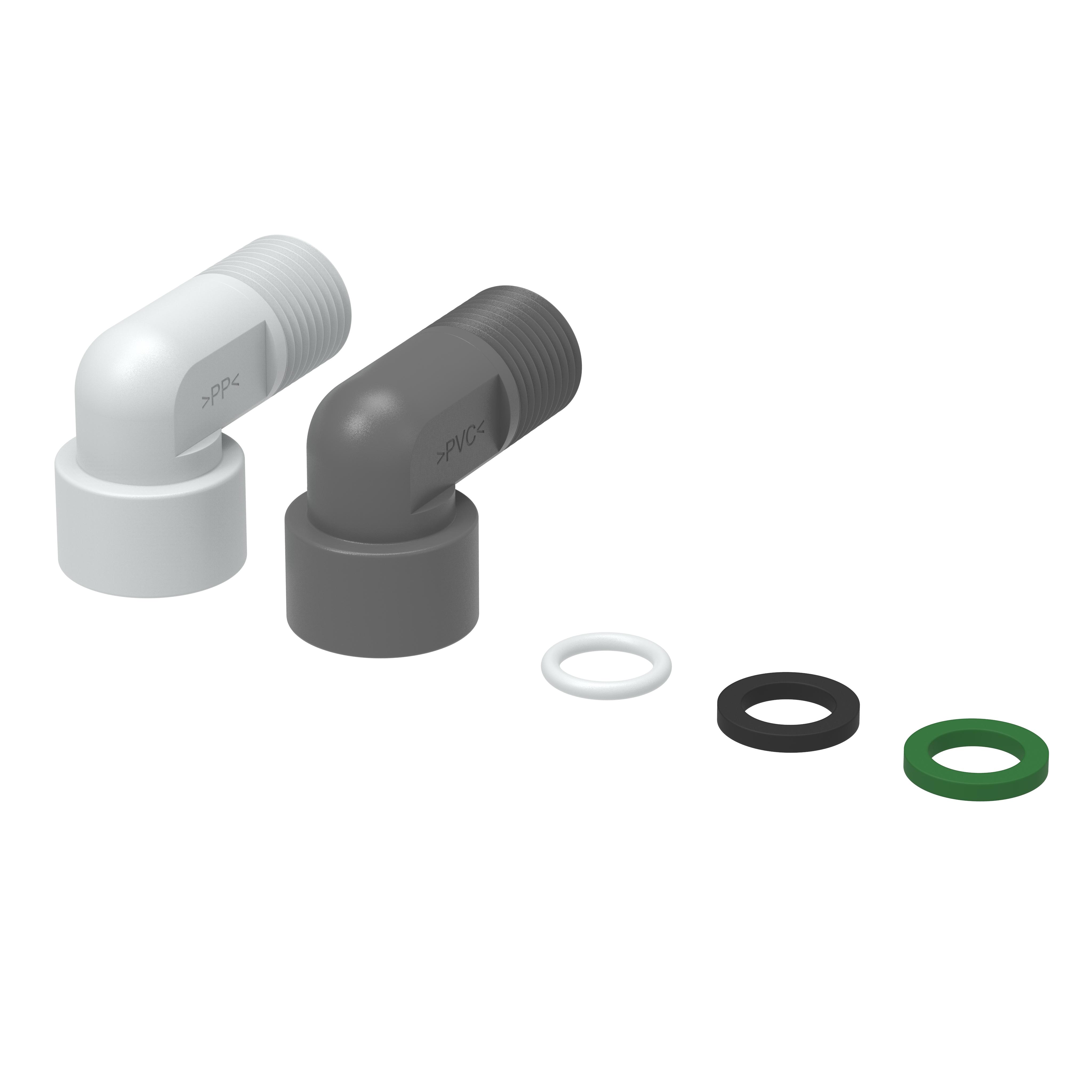 Zubehör Sauglanze - Winkelstück - 35207203 - PVC/PP