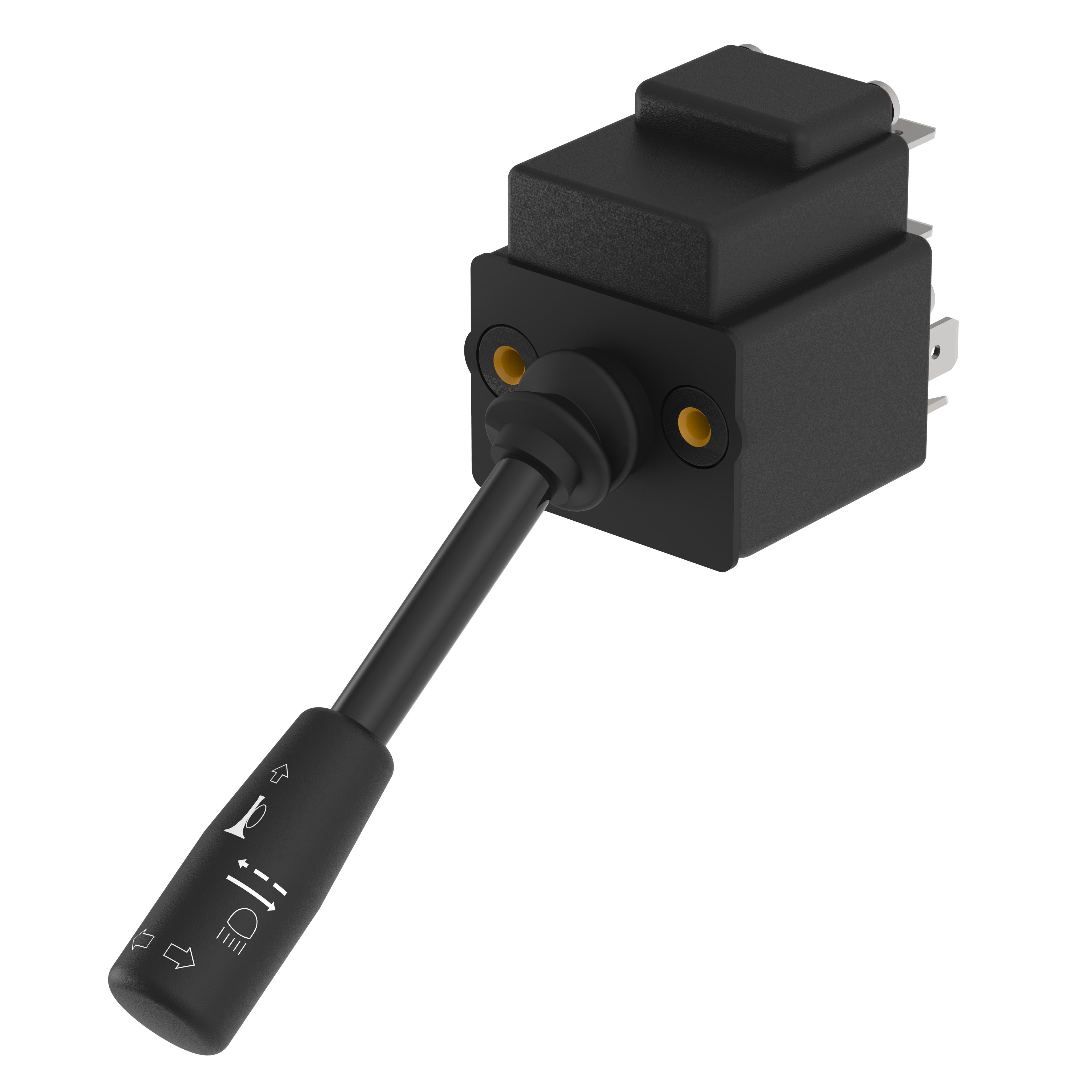 Universalschalter Standard - 151UMS10B - rastend, kleiner Griff mit Aufdruck